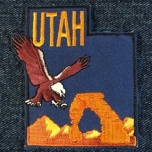 Utah state souvenir embroidered patch